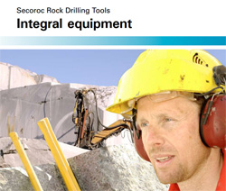 Atlas Copco Secorock Integral drilling equipment catalog.