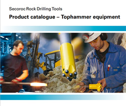 Atlas Copco Secoroc Tophammer drilling equipment at Rock Drill Sales.