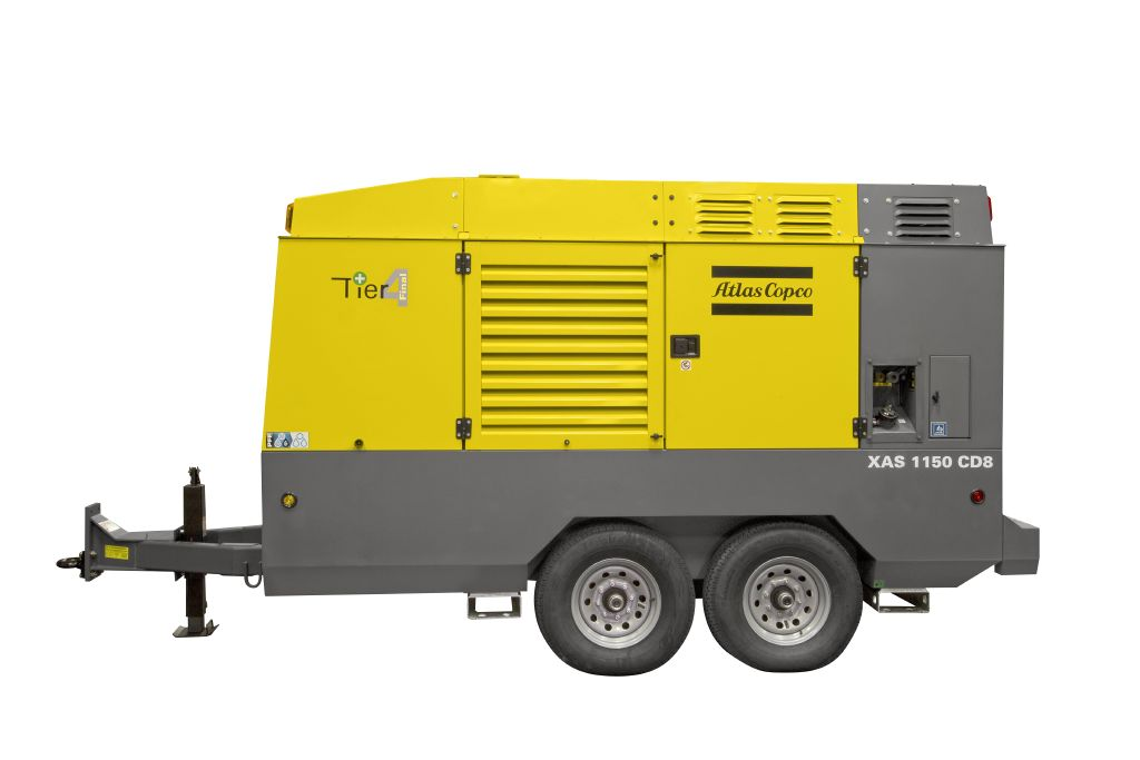 Rock Drill Sales | Atlas Copco Portable Air Compressor | Hardhat XAS1150
